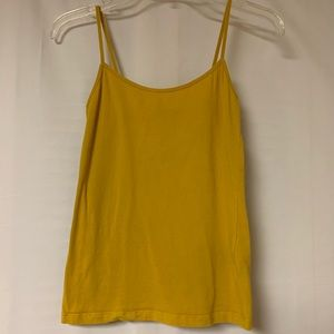 Forever 21 Cami Tank Top Mustard Yellow